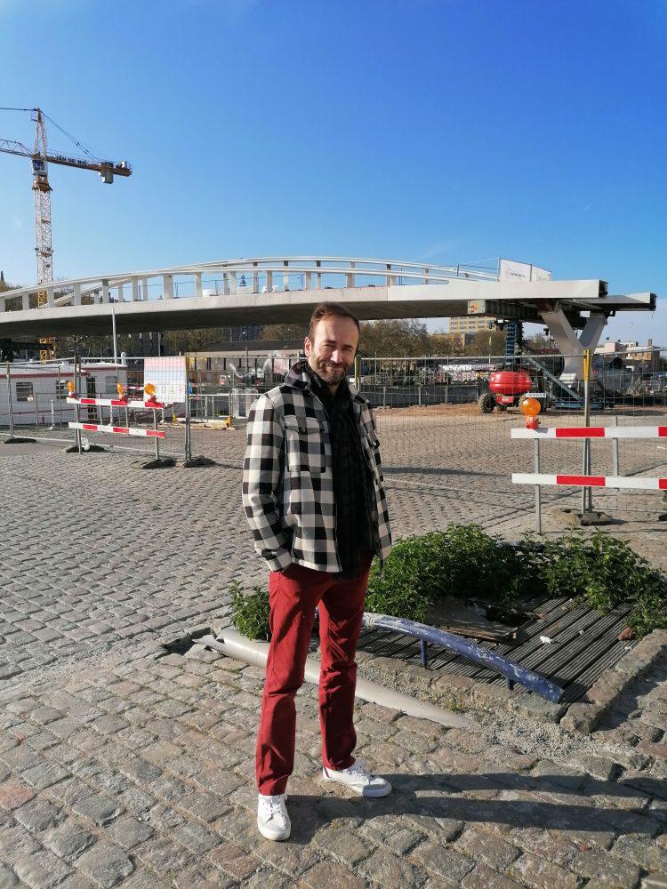 Le pont Suzan Daniel en construction